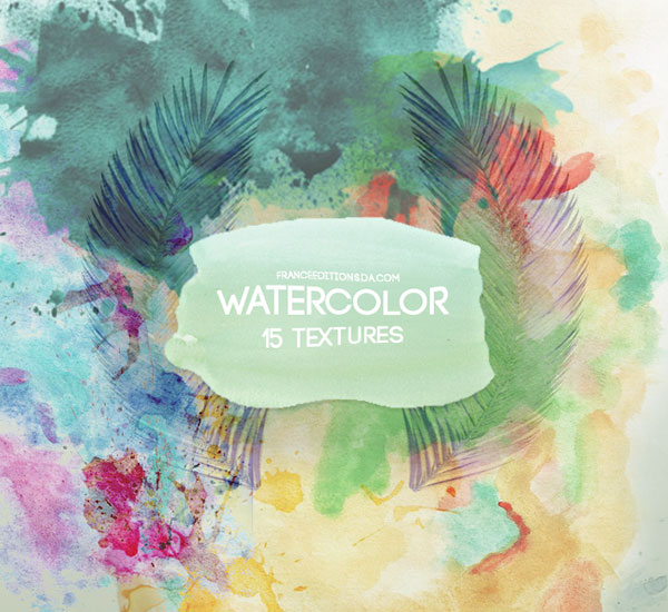 15 Watercolor Textures by FranceEditions