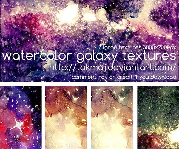 Galaxy Textures by Takmaj