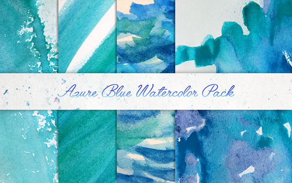 Azure Blue Watercolor Pack
