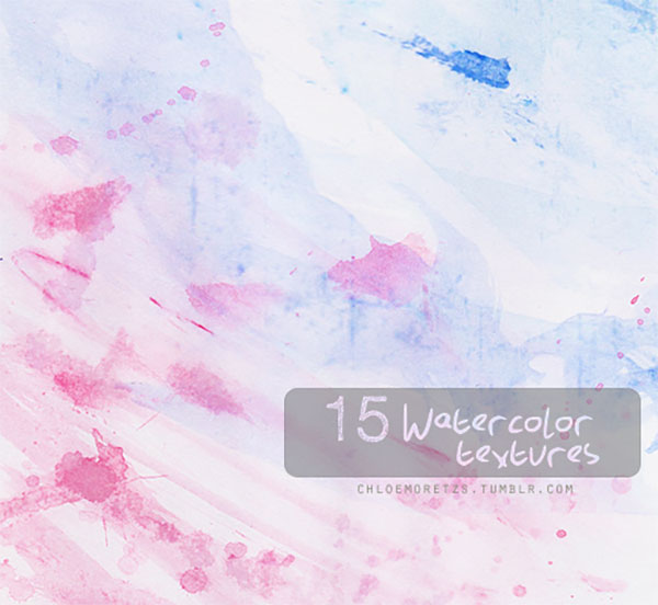 15 Watercolor Textures by Mykimmy