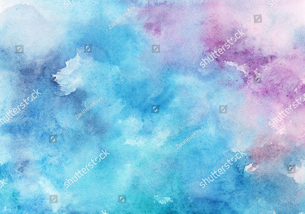 Watercolor Wet Blue