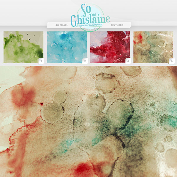 Textures WaterColor by So Ghislaine