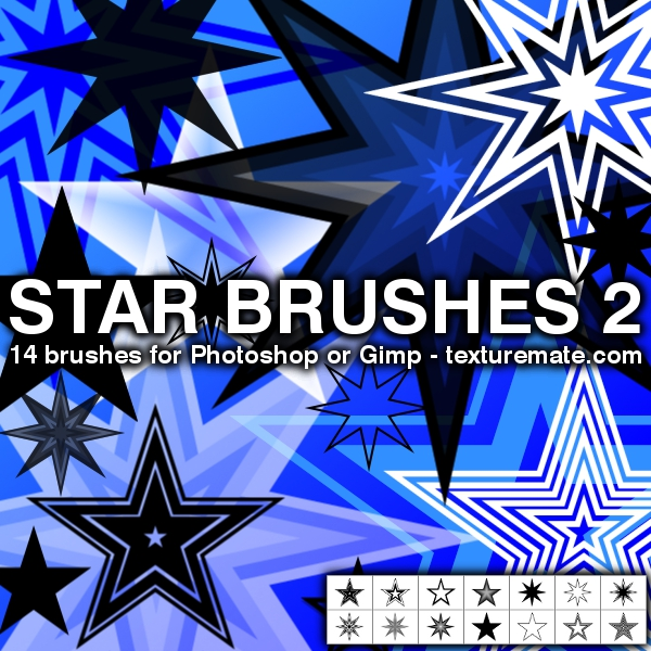 Star 2 Pack for Photoshop or Gimp