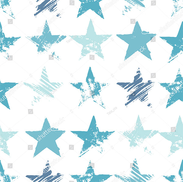 Stylish Print with HandDrawn Stars