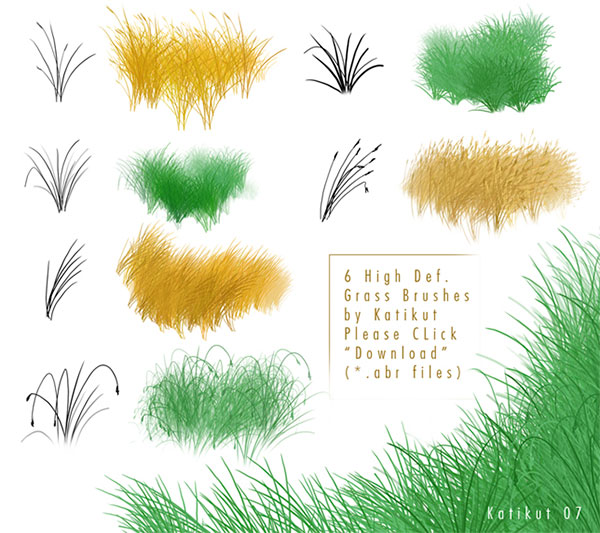 Grass brushes 2 by Katikut
