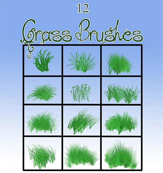 Grass brushes by TorazTheNomad