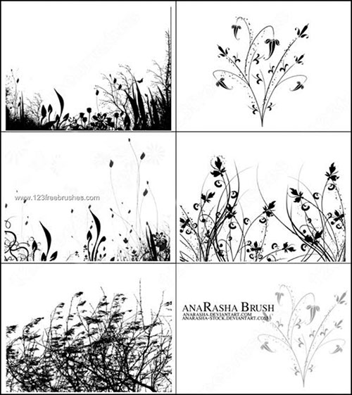 Photoshop Brushes Grass Free