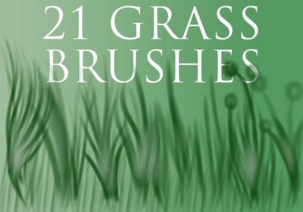 21 Grass Brushes