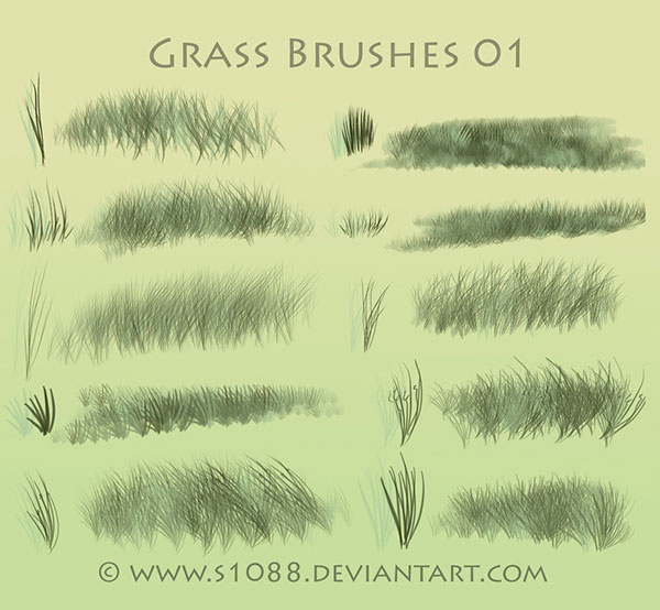 Free PS Grass Brushes 01