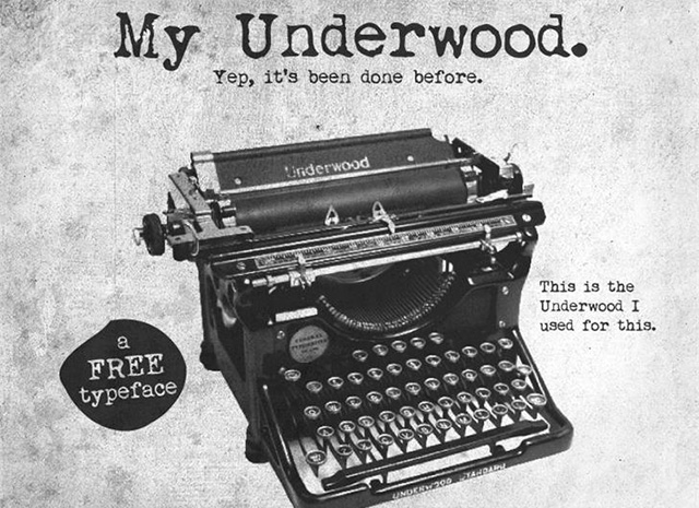My Underwood Font