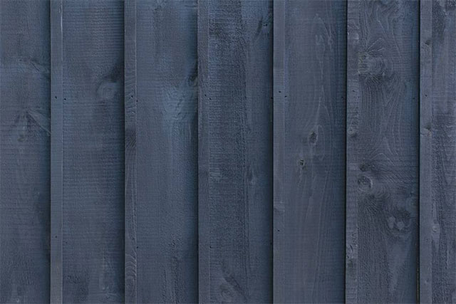 Black Stained Planks Texture