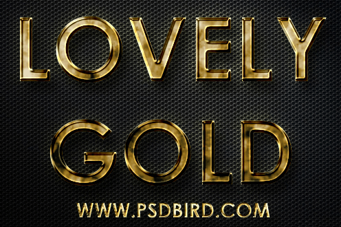 Free Photoshop Gold Layer PSD & .ASL