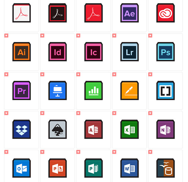 Flat Strokes App Icons by Hopstarter