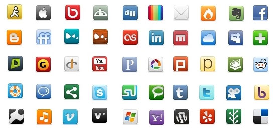 Social Network Icon Pack icons pack Free icon