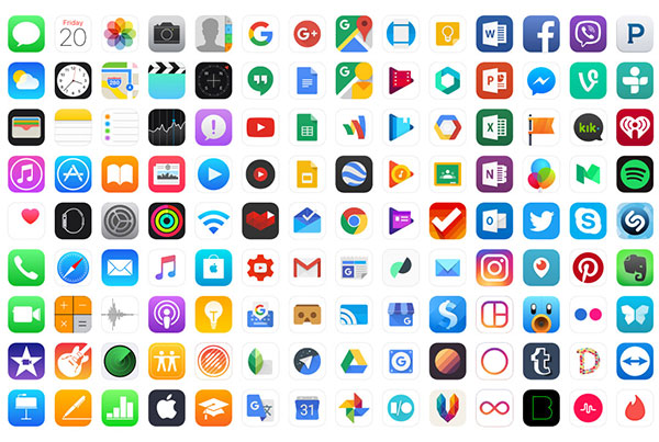 Ultimate App Icons Set Sketch Resource