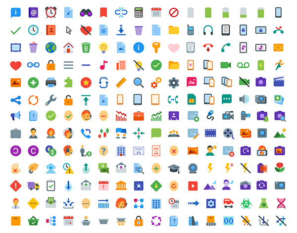 300+ Free Flat Color Icons