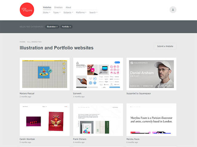 Site Inspire (Illustration + Portfolio)
