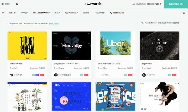 Awwwards (Art + Illustration)