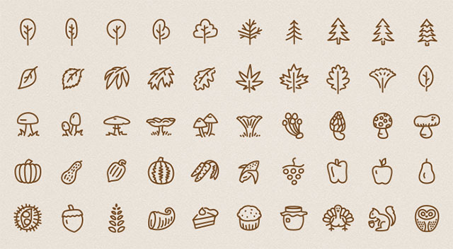 50 Free Autumn Inspired Icons
