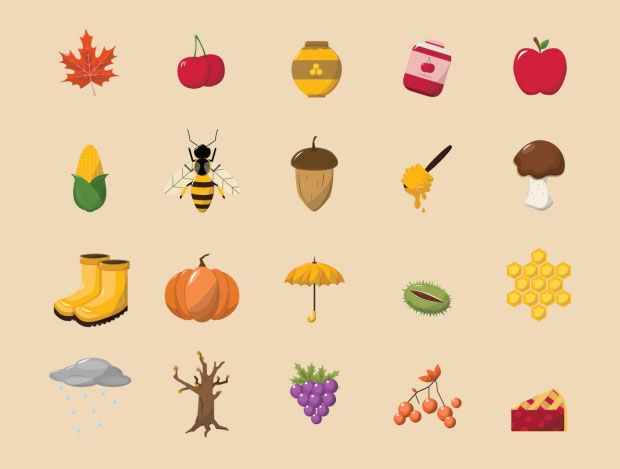Autumn icons collection By Rwdd_studios