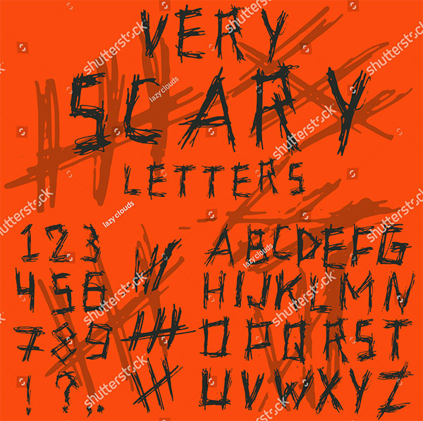Scary Style Letters