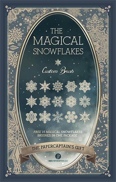 The Magical Snowflakes Custom Brush