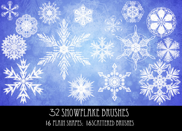 Snowflake Brushes 1 by PurpleAmharicCoffee