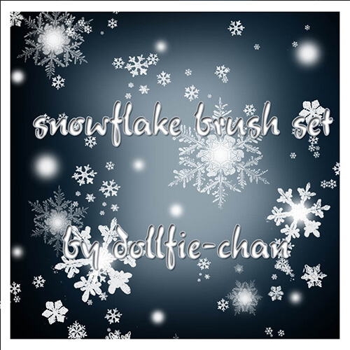 Free Snowflake Brushes by dollfie-chan