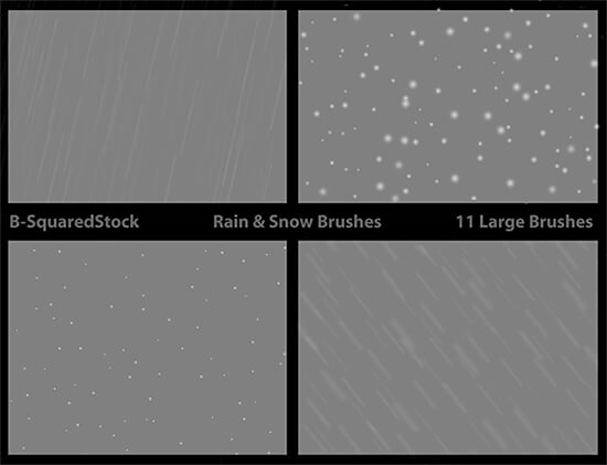 Rain and Snow Brushes