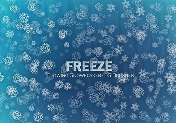 20 Freeze Snowflakes PS Brushes Abr. Vol10