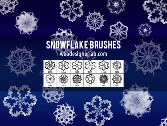 Free Snowflake Brushes by xara24
