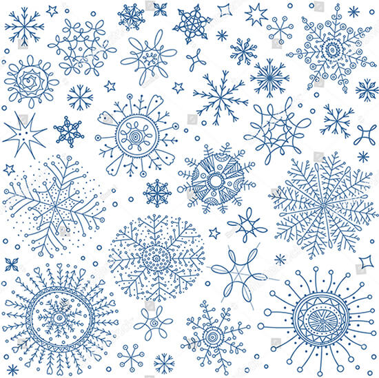 Snowflakes and Winter Symbols