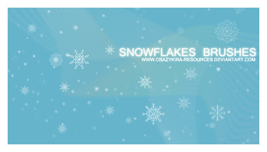 Snowflakes Brushes by crazykira-resources