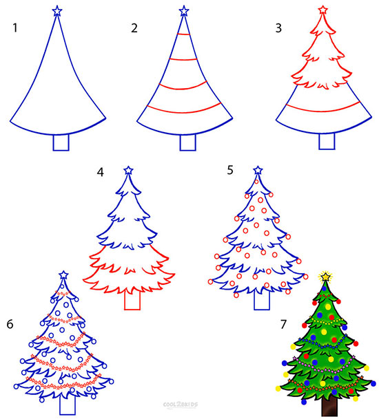Draw a Christmas Tree (7 шагов)
