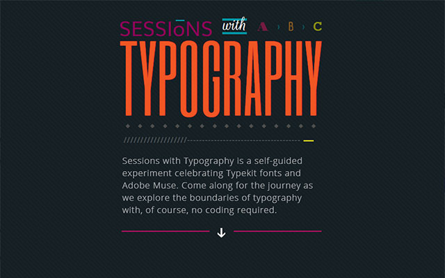 Typography With Sessions