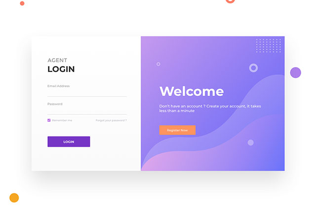Agent Login Page