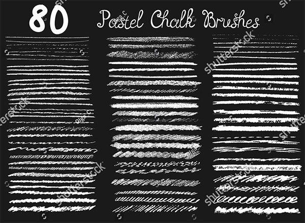 Big Set Of Chalk Brushes