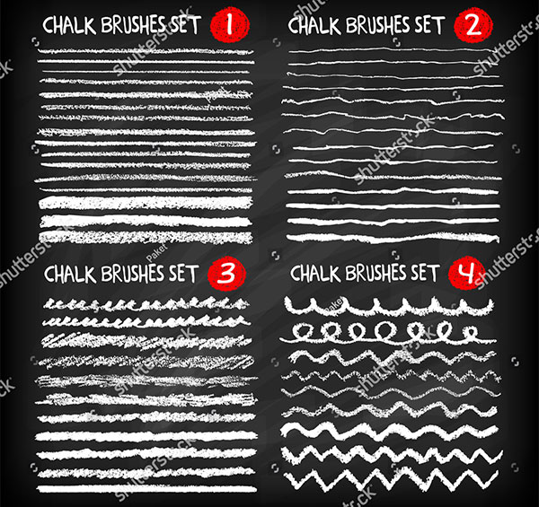 Mega Set Of Chalk Brushes