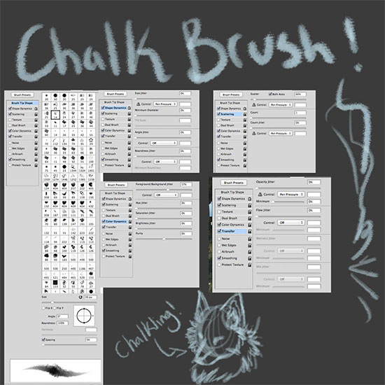 Photoshop Chalk Brush Effect