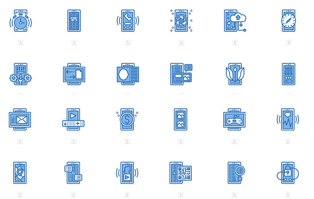 Mobile Interface Icon Pack