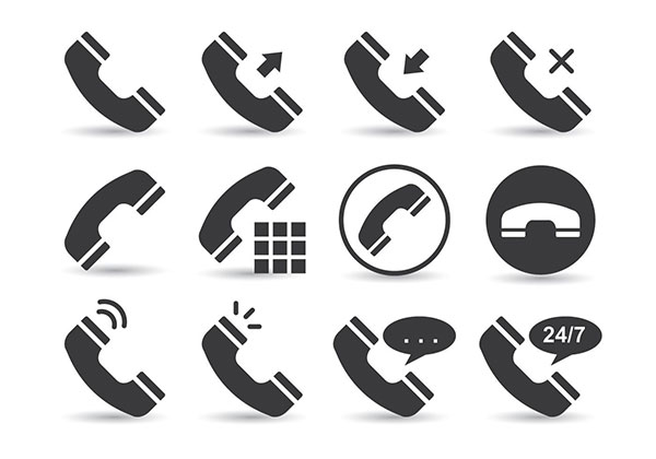Telecommunication Phone Vectors