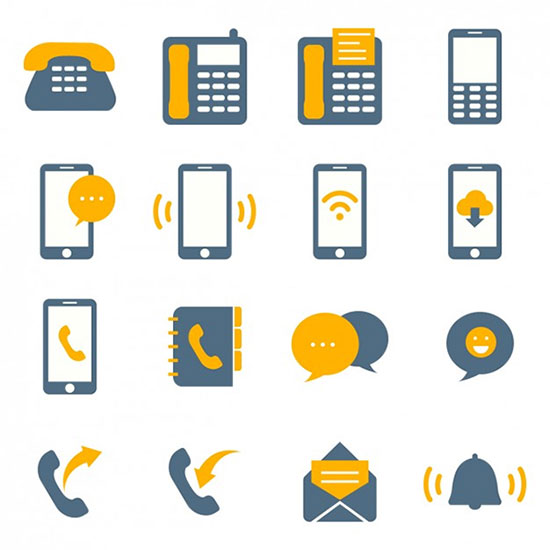 Coloured Connectivity Icons