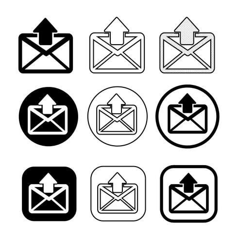 Set of Simple Sign Email Icon Symbol