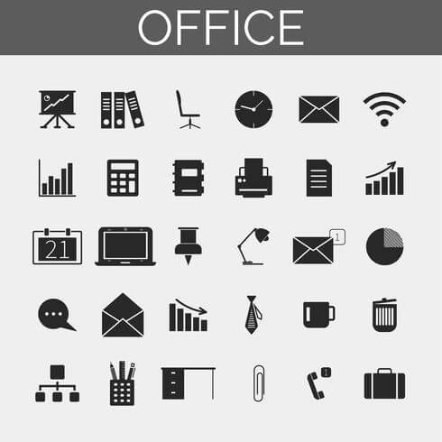 Business and Office Iconsset