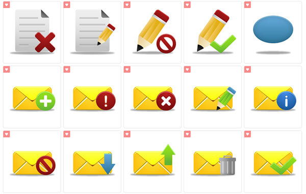 Pretty Office 9 Icons by Custom Icon Design