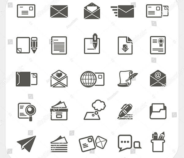 Mail Icons-set