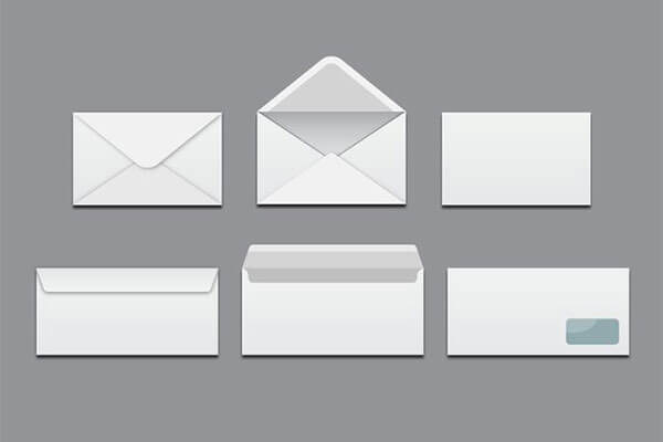 White Blank Envelopes