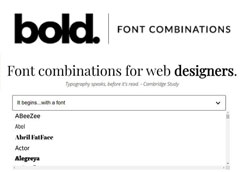 Font Combination Tool