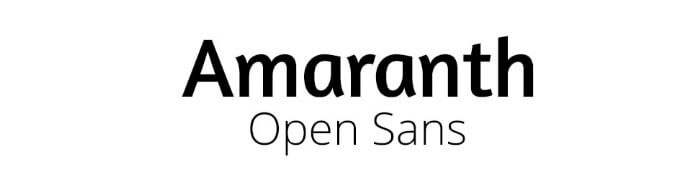 Amaranth + Open Sans