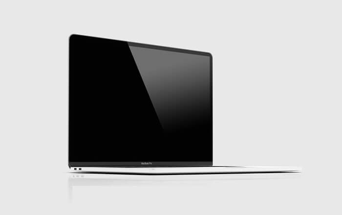 MacBook Pro From Side View